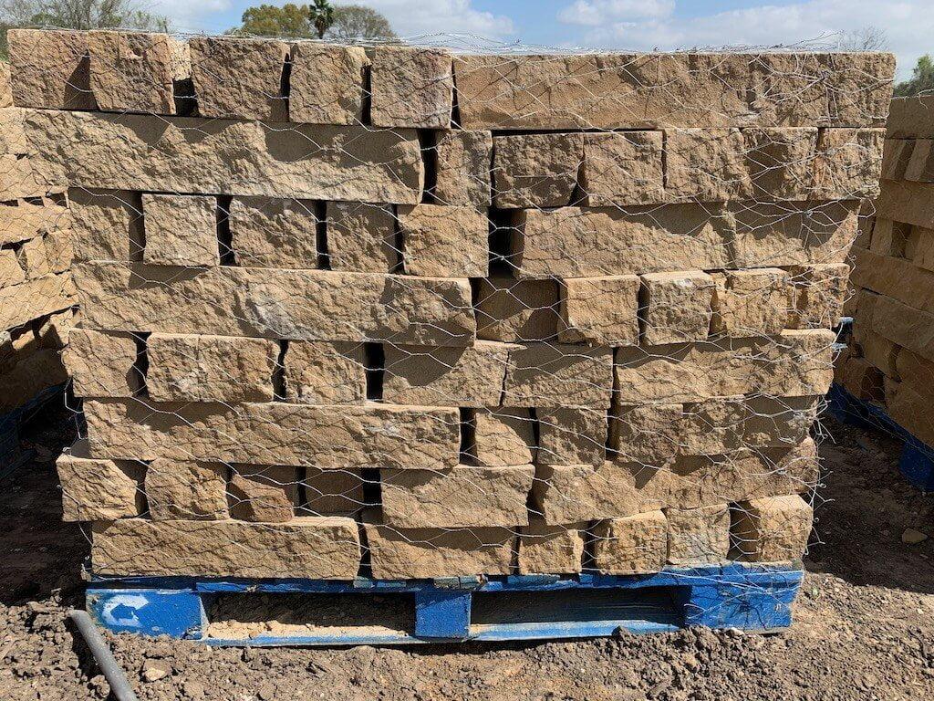 Chopped Block Stone Landscape Edging Houston, TX