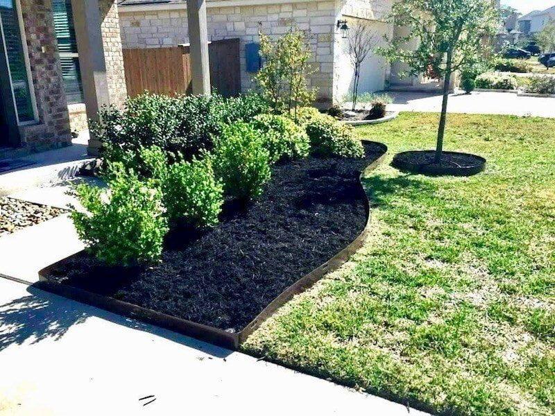 metal edging landscape flower bed edging houston tx 77407