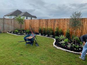 backyard landscape after houston tx 77407