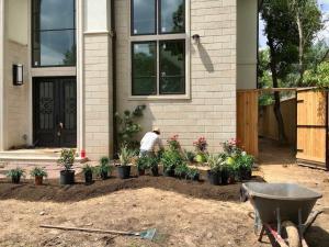 front yard landscape flower bed garden houston tx 77407