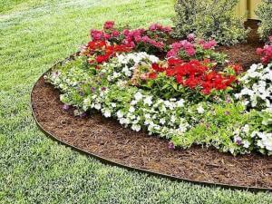 landscape edging metal steel flower bed houston tx 77407