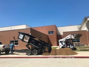 landscape walkway gravel delivery rock truckload decomposed granite houston tx 77407
