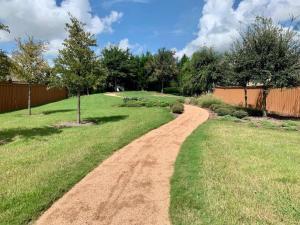 landscape walkway gravel pathway houston tx 77407