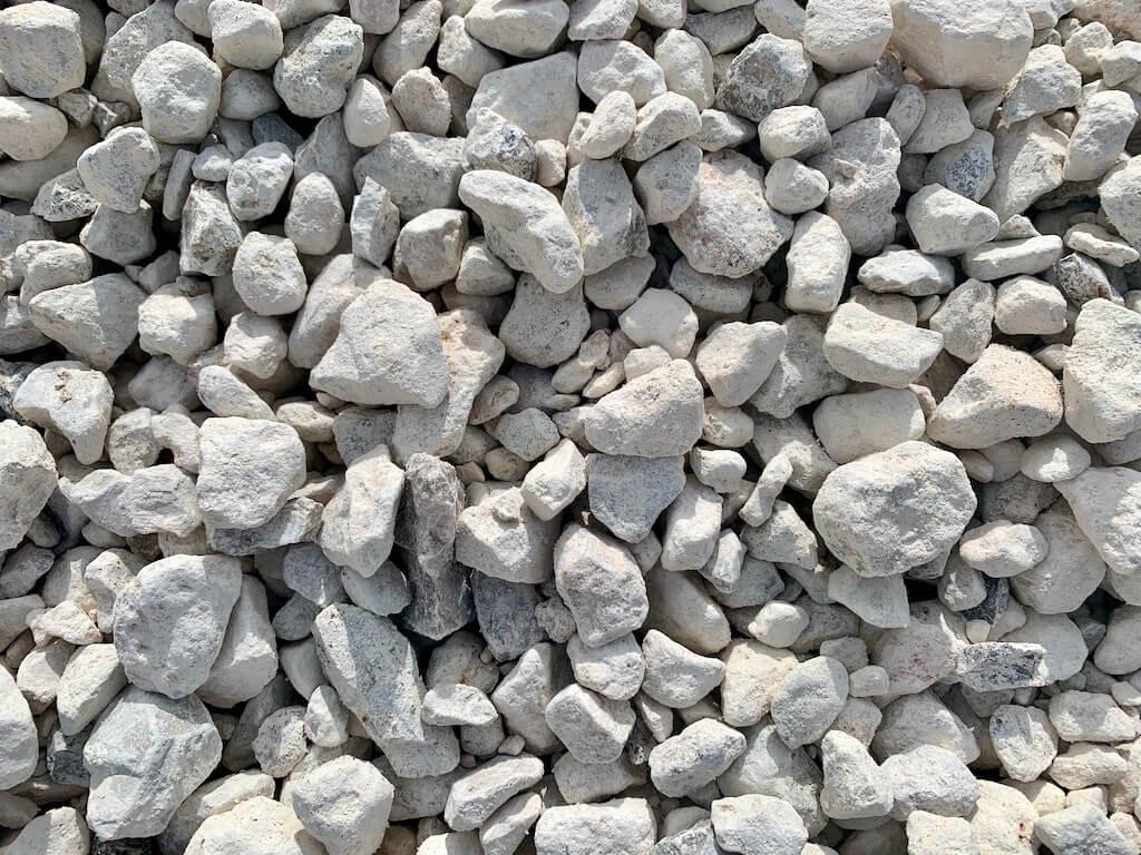 Washed limestone landscaping rocks for drainage Houston, TX