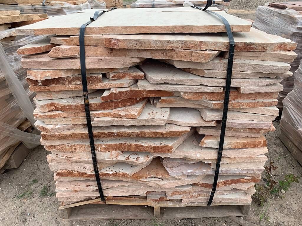 Houston Flagstone Pavers Arizona White Classic Oak