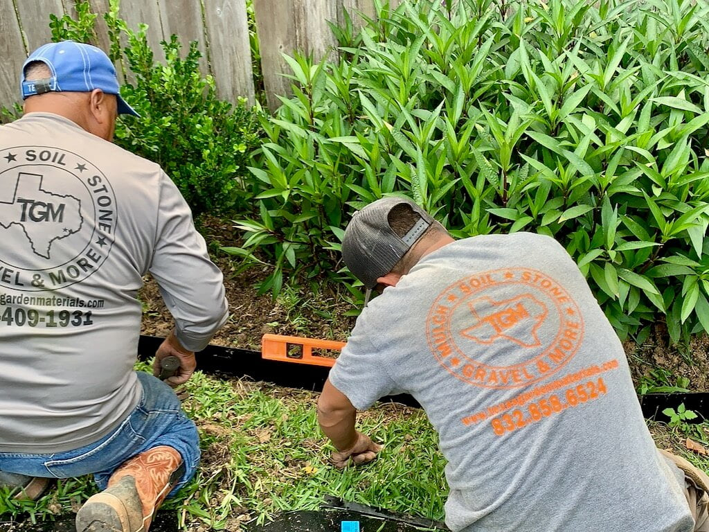 Metal Edging Landscape Service Houston, TX
