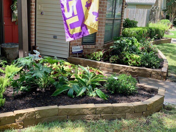Stone Landscape Edging Landscaping Idea Houston, TX
