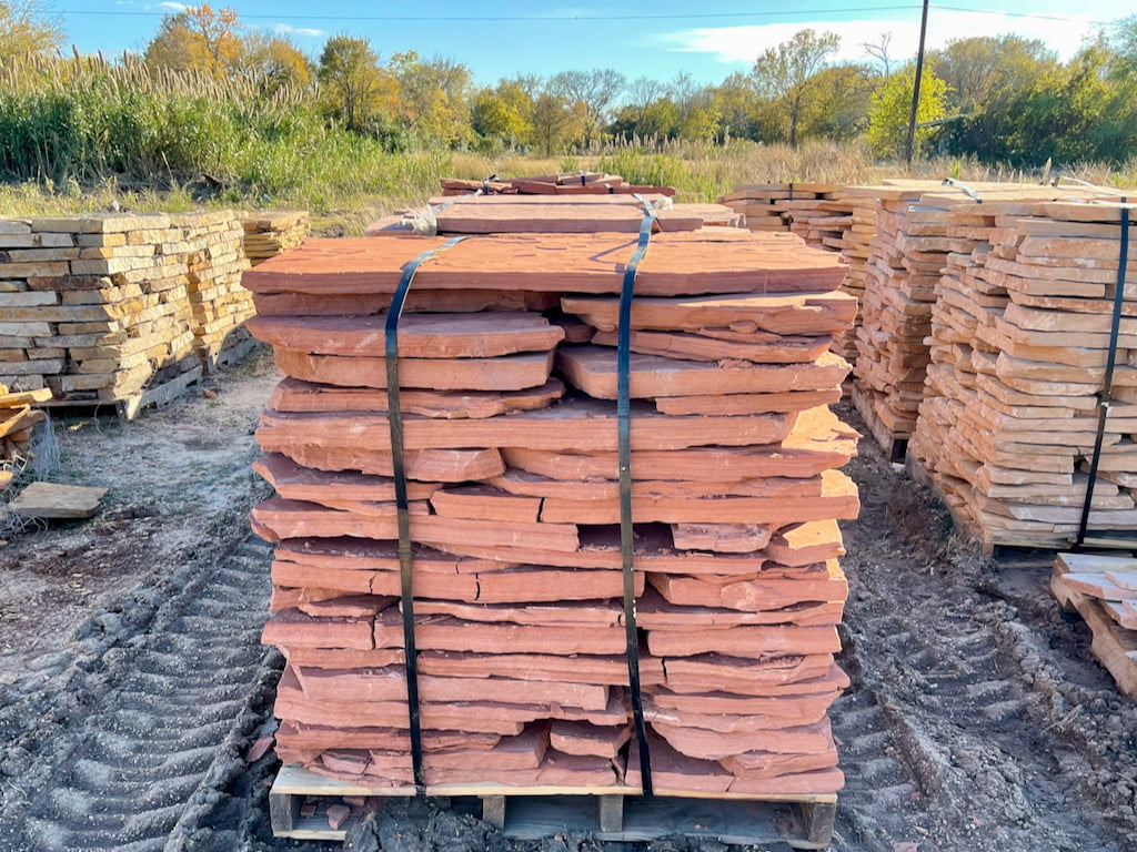 Flagstone Paver Red Natural Stone Houston, TX 77099