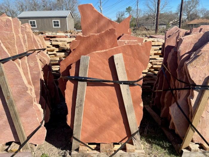 Stone Slabs Red Flagstone Houston, TX 77024